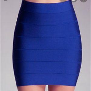 Bebe like new bandage mini skirt
